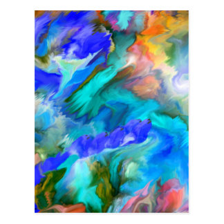 Multiple products- Dancing colors - Abstract53 Postcard