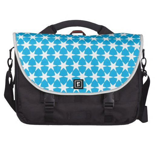 Multiple products light blue bacground white stars computer bag