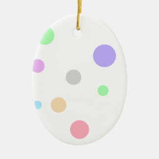 Multiple Products Double-Sided Oval Ceramic Christmas Ornament