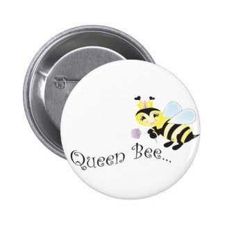 (multiple products selected )Queen Bee 2 Inch Round Button
