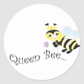 (multiple products selected )Queen Bee Classic Round Sticker