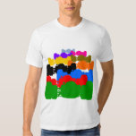 Multiple Psychedelic Vintage Indy Race Car Cutouts T Shirt