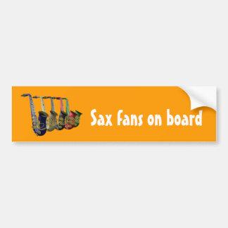 Multiple Saxophones Bumper Sticker