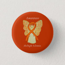 Multiple Sclerosis Angel Awareness Ribbon Pins