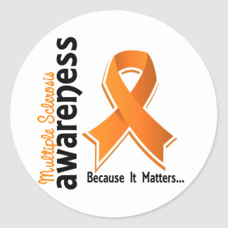 Multiple Sclerosis Awareness 5 Classic Round Sticker