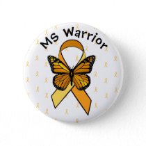 Multiple Sclerosis Awareness Butterfly Button