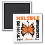 Multiple Sclerosis Awareness Butterfly Magnets