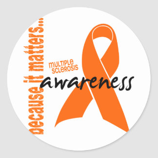 Multiple Sclerosis Awareness Classic Round Sticker