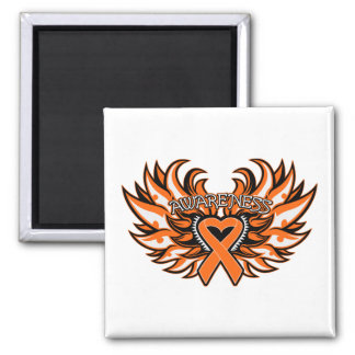 Multiple Sclerosis Awareness Heart Wings.png 2 Inch Square Magnet