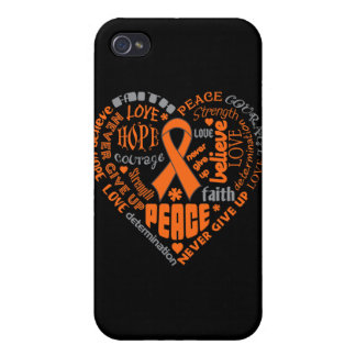 Multiple Sclerosis Awareness Heart Words iPhone 4/4S Cover
