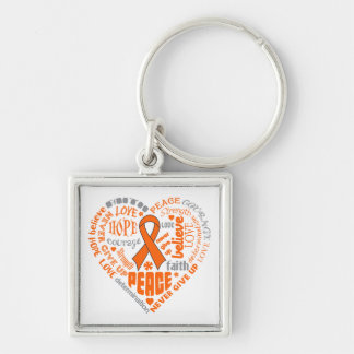 Multiple Sclerosis Awareness Heart Words Key Chain
