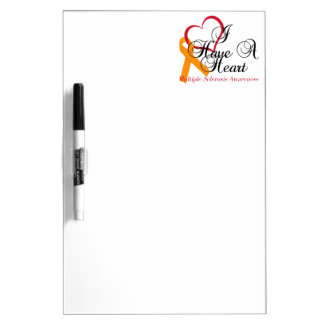 Multiple Sclerosis Awareness I Have A Heart Dry-Erase Whiteboard