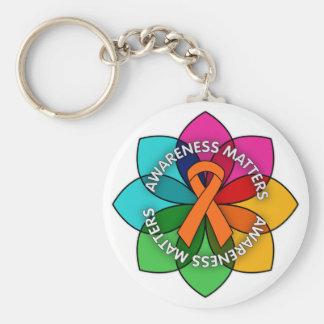Multiple Sclerosis Awareness Matters Petals Keychain