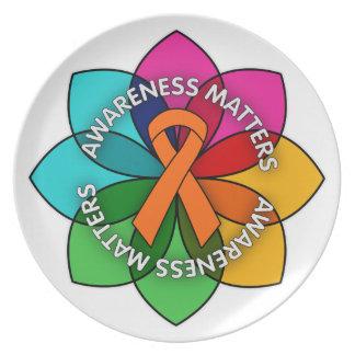 Multiple Sclerosis Awareness Matters Petals Dinner Plate