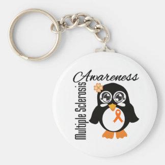 Multiple Sclerosis Awareness Penguin Keychains