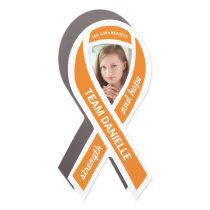 Multiple Sclerosis Awareness Photo Orange Ribbon Car Magnet
