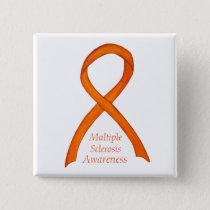 Multiple Sclerosis Awareness Ribbon Custom Pins