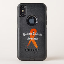 Multiple Sclerosis Awareness Ribbon of Hope OtterBox Commuter iPhone XS Case