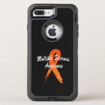 Multiple Sclerosis Awareness Ribbon of Hope OtterBox Defender iPhone 8 Plus/7 Plus Case