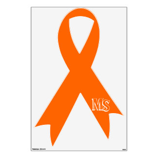 Multiple Sclerosis Awareness Ribbon Wall Decal