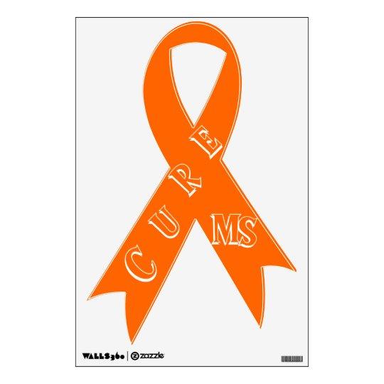 Multiple Sclerosis Awareness Ribbon Wall Sticker Zazzle