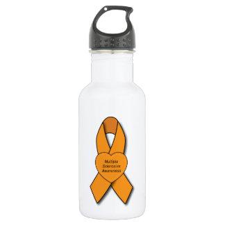 Multiple Sclerosis Awareness Ribbon Water Bottle