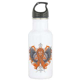 Multiple Sclerosis Awareness Wings 18oz Water Bottle