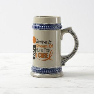 Multiple Sclerosis BELIEVE DREAM HOPE Coffee Mugs