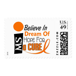 Multiple Sclerosis BELIEVE DREAM HOPE Postage Stamps