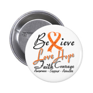 Multiple Sclerosis Believe Heart Collage 2 Inch Round Button