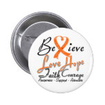 Multiple Sclerosis Believe Heart Collage Button