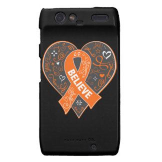 Multiple Sclerosis Believe Ribbon Heart Droid RAZR Covers