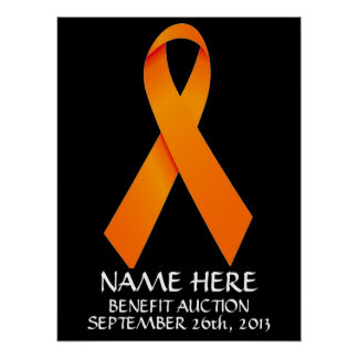 Multiple Sclerosis  Benefit Auction Ribbon Poster