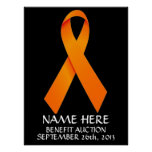Multiple Sclerosis  Benefit Auction Ribbon Posters