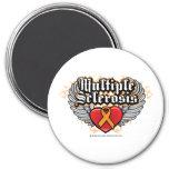 Multiple Sclerosis Biker 3 Inch Round Magnet