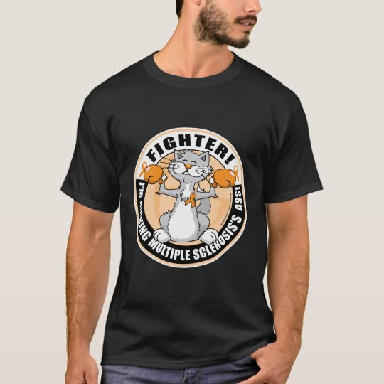Multiple Sclerosis Boxing Cat T-Shirt