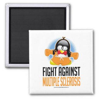 Multiple Sclerosis Boxing Penguin Magnet