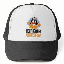 Multiple Sclerosis Boxing Penguin Trucker Hat