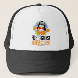 Multiple Sclerosis Boxing Penguin Trucker Hat