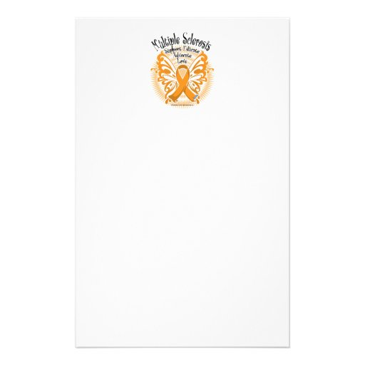 Multiple Sclerosis Butterfly 3 Stationery Design