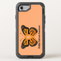 Multiple Sclerosis Butterfly Awareness Ribbon OtterBox Defender iPhone 8/7 Case