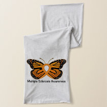 Multiple Sclerosis Butterfly Awareness Ribbon Scarf