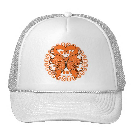 Multiple Sclerosis Butterfly Circle of Ribbons Hats