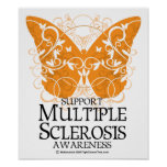 Multiple Sclerosis Butterfly Poster