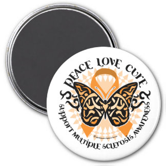 Multiple Sclerosis Butterfly Tribal 2 Magnet