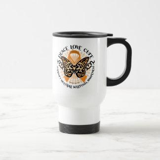 Multiple Sclerosis Butterfly Tribal 2 15 Oz Stainless Steel Travel Mug
