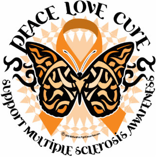 Multiple Sclerosis Butterfly Tribal 2 Statuette