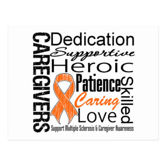 Multiple Sclerosis Caregivers Collage Postcard