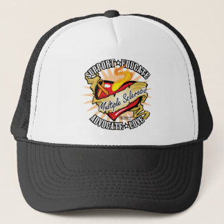Multiple Sclerosis Classic Heart Trucker Hat