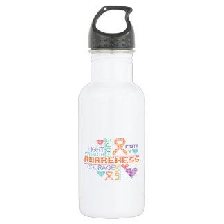 Multiple Sclerosis Colorful Slogans 18oz Water Bottle